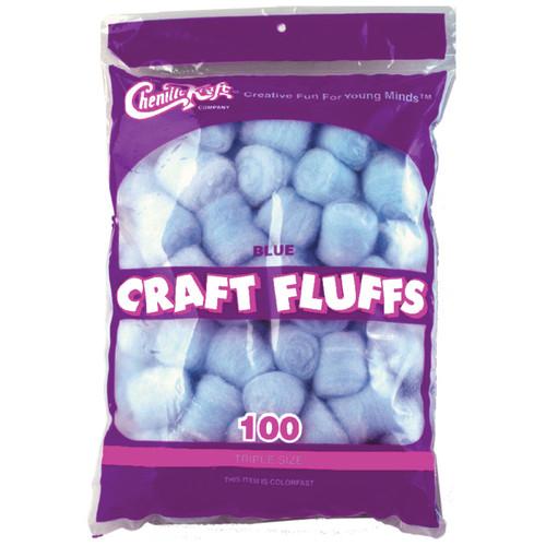 Craft Fluffs 4oz 100/Pkg-Blue -FLUFF4OZ-6401 - 021196064010