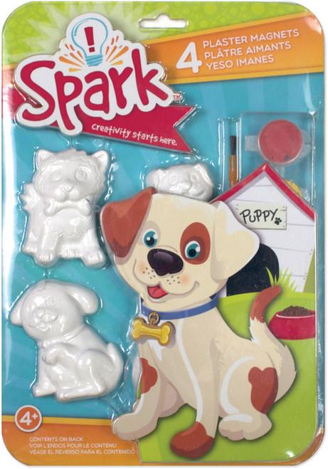 Spark Plaster Magnet Kit-Playful Pups -73224 - 765468732244