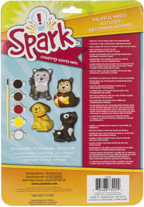 Spark Plaster Magnet Kit-Playful Pups -73224