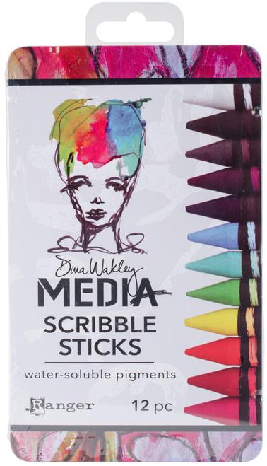 Dina Wakley Media Scribble Sticks 1 12/Pkg-MDA54733 - 789541054733