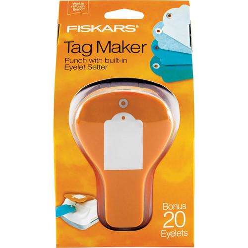 Fiskars 3-In-1 Tag Maker Punch-Standard -197500 - 020335052611