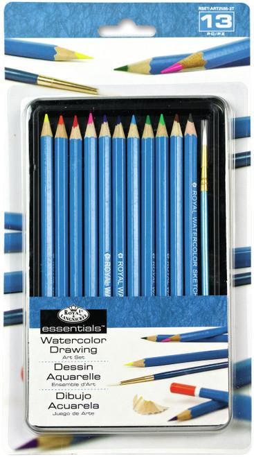essentials(TM) Watercolor Pencil Art Set 12/Pkg-RSET2505 - 090672057716