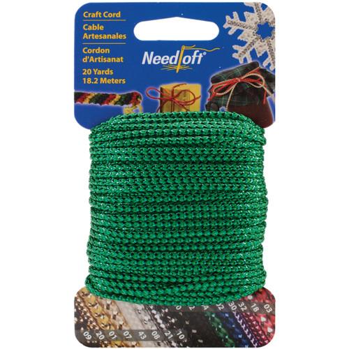 Cottage Mills Novelty Craft Cord 20yd-Metallic Green -550-55004 - 723347550044