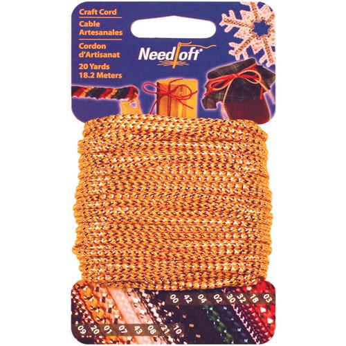 Cottage Mills Novelty Craft Cord 20yd-Metallic Gold -550-55001 - 723347550013