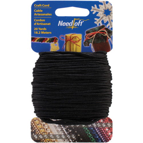 Cottage Mills Novelty Craft Cord 20yd-Solid Black -550-55042 - 723347550426