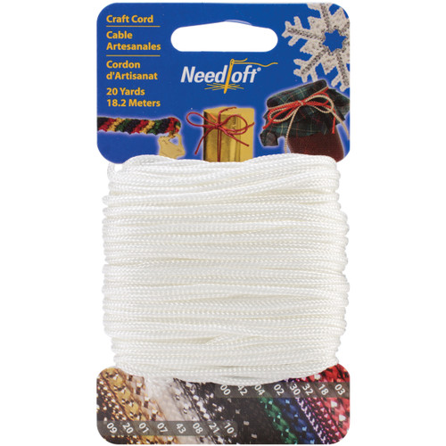 Cottage Mills Novelty Craft Cord 20yd-Solid White -550-55043 - 723347550433