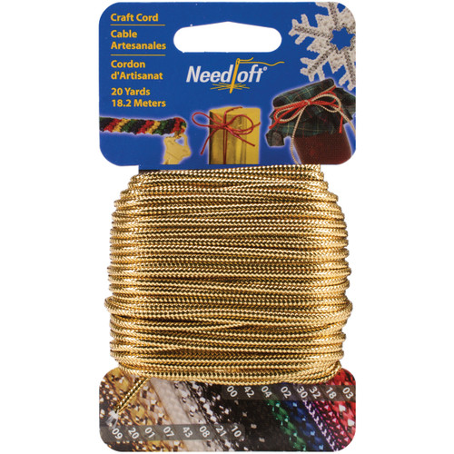 Cottage Mills Novelty Craft Cord 20yd-Solid Gold -550-55020 - 723347550204