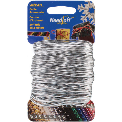 Cottage Mills Novelty Craft Cord 20yd-Solid Silver -550-55021 - 723347550211