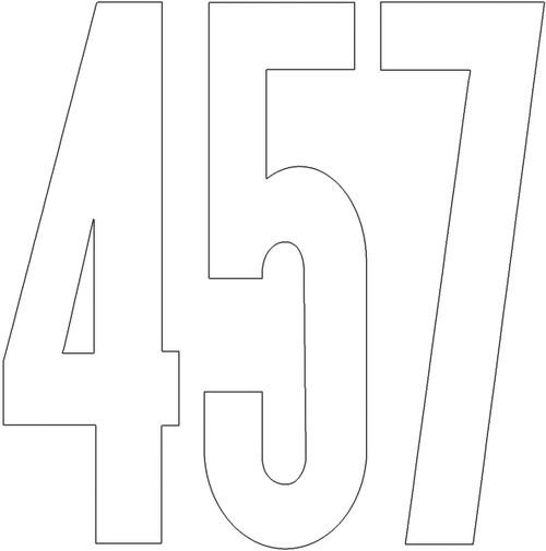 "Permanent Adhesive Vinyl Numbers 4"" 49/Pkg-White -D3217-WHITE"