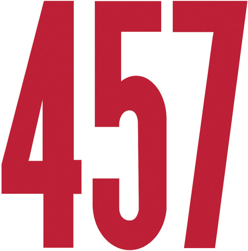 """Permanent Adhesive Vinyl Numbers 4"""" 49/Pkg-Red -D3217-RED"""