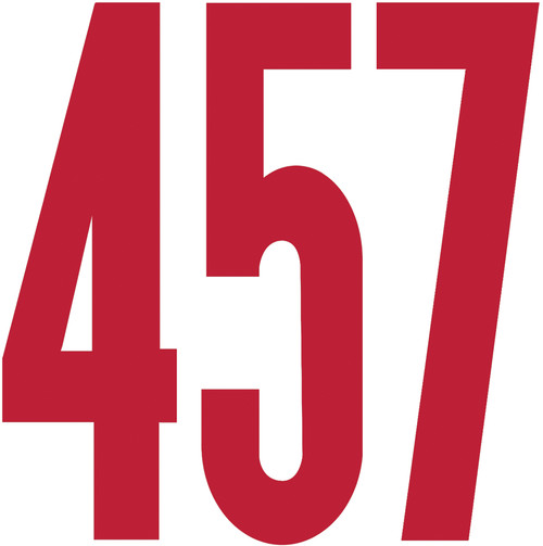 """Permanent Adhesive Vinyl Numbers 6"""" 48/Pkg-Red -D3219-RED"""
