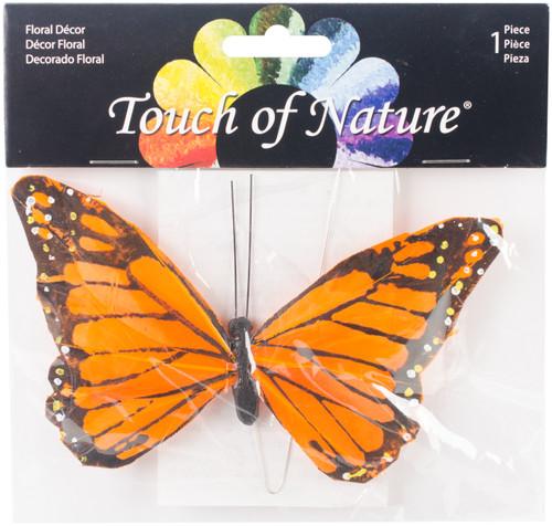 """Butterfly W/Wire 6""""-Orange Monarch -MD23023 - 684653230238"""