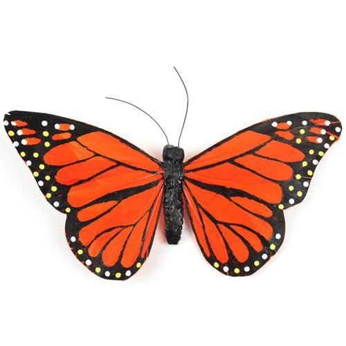 """Butterfly W/Wire 6""""-Orange Monarch -MD23023"""