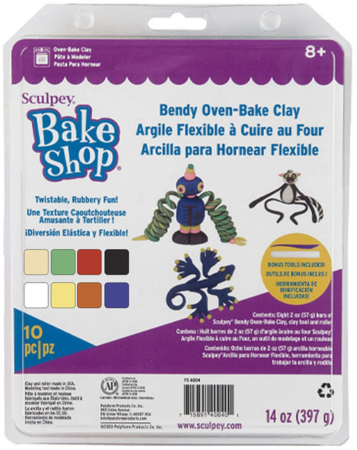 Sculpey Oven-Bake Clay Kit-Bake & Bend -FX4004 - 715891400401