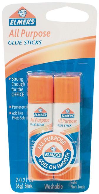 Elmer's All-Purpose Glue Sticks 2/Pkg-.21oz -E512 - 026000005128