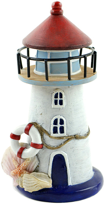 "Fairy Garden Nautical Lighthouse W/Seashells-6"" -55871 - 684653558714"