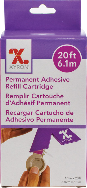 "Xyron 150 Refill Cartridge-1.5""X20' Permanent -AT155-20 - 608931000771"
