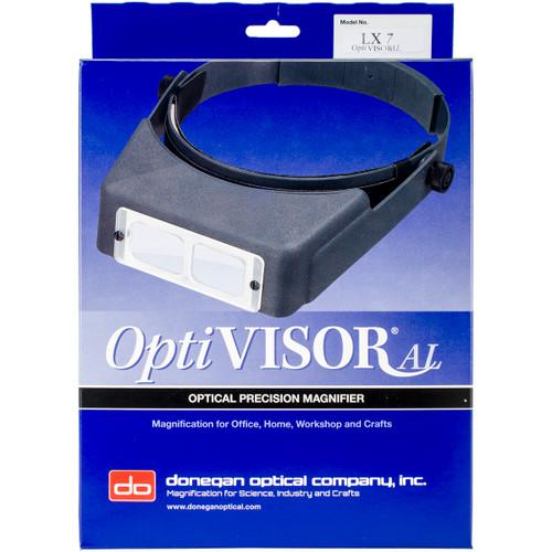 "Donegan OptiVISOR LX Binocular Magnifier-Lensplate #7 Magnifies 2.75x At 6"" -LX7 - 633096001523"