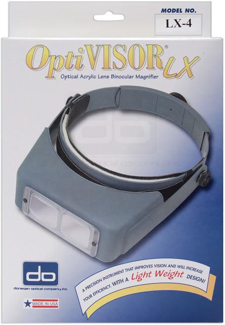 "Donegan OptiVISOR LX Binocular Magnifier-Lensplate #4 Magnifies 2x At 10"" -LX4 - 633096001509"