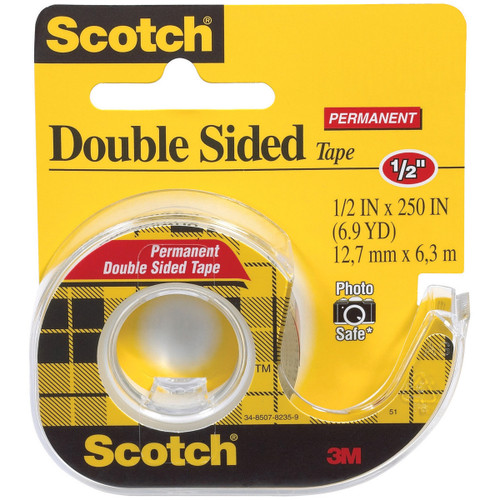 """Scotch Permanent Double-Sided Tape-.5""""X250"""" -136-3M - 021200010323"""