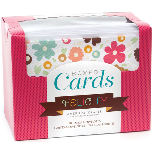 """American Crafts A2 Cards W/Envelopes (4.375""""X5.75"""") 40/Box-Felicity -71693 - 718813716932"""