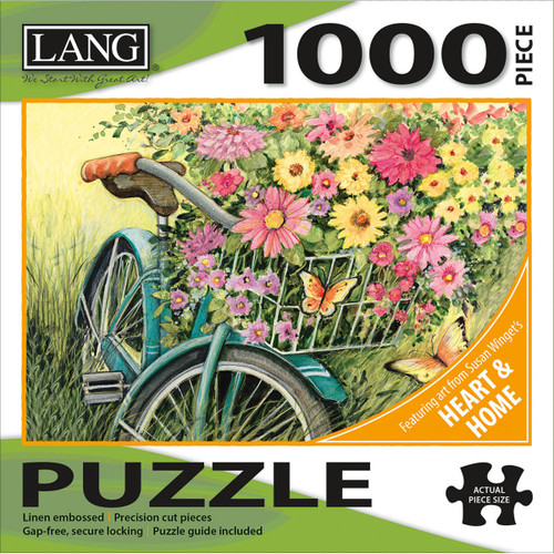 """Jigsaw Puzzle 1000 Pieces 29""""X20""""-Bicycle Bouquet -50380-31 - 7397441833279780741262455"""