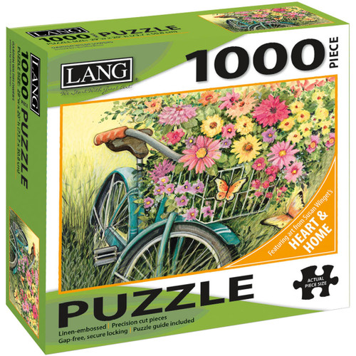 """Jigsaw Puzzle 1000 Pieces 29""""X20""""-Bicycle Bouquet -50380-31"""