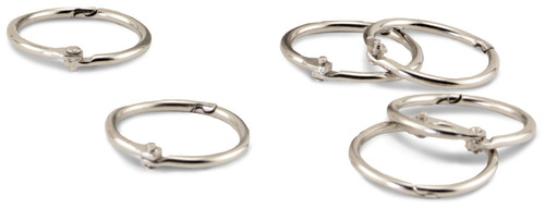 "Book Rings 50/Pkg-Silver 1"" -H61251"