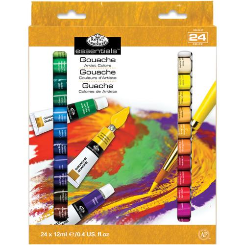 Gouache Acrylic Paints 12ml 24/Pkg-Assorted Colors -GOU24 - 090672066657