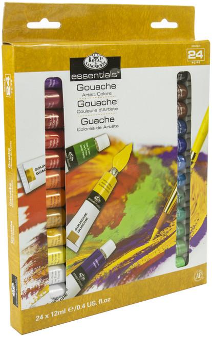 Gouache Acrylic Paints 12ml 24/Pkg-Assorted Colors -GOU24