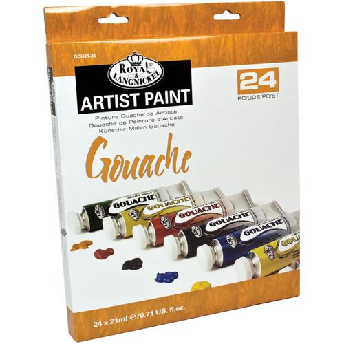 Gouache Acrylic Paints 21ml 24/Pkg-Assorted Colors -GOU21-24
