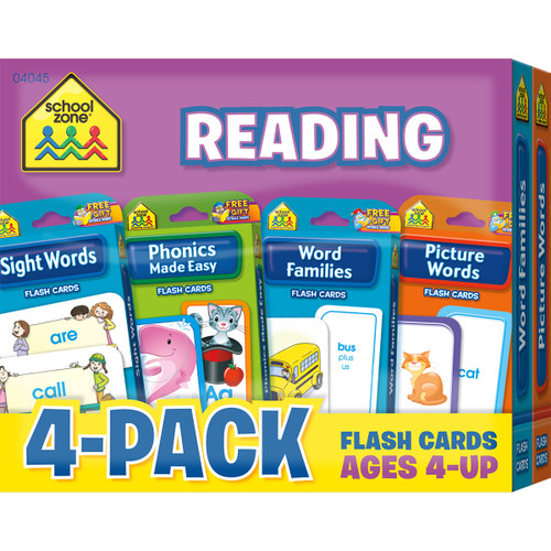 Flash Cards 4-Pack-Reading -SZ040-45 - 0766450404599781601599353