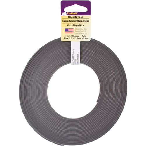 """ProMag Adhesive Magnetic Tape-.5""""X25' -12346 - 015377123252"""