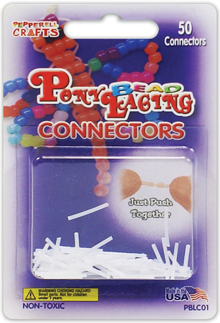 Pony Bead Lacing Connectors 50/Pkg-PBLCO1 - 725879220501
