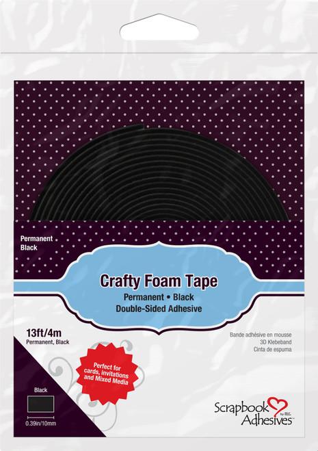 "Scrapbook Adhesives Crafty Foam Tape Roll-Black, .375""X13' -01619 - 093616016190"
