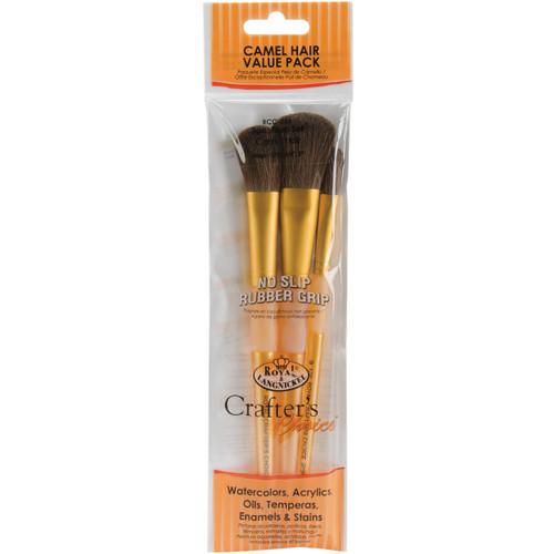Crafter's Choice Camel Brush Set-3/Pkg -RCC231 - 090672304254