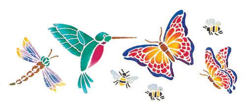 "Stencil Magic Decorative Stencils-Butterflies & More 5.25""X13"" -95-627 - 047292956271"