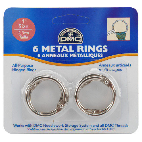 """DMC Metal Rings 1""""-6/Pkg -U1548 - 077540143580"""