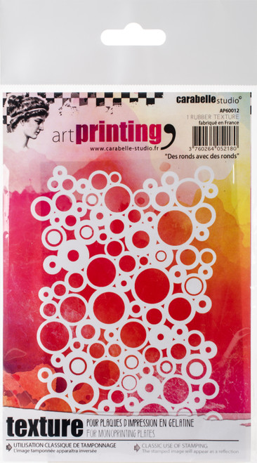 Carabelle Studio Art Printing A6 Rubber Texture Plate-Rounds With Rounds -AP60012 - 3760264052180