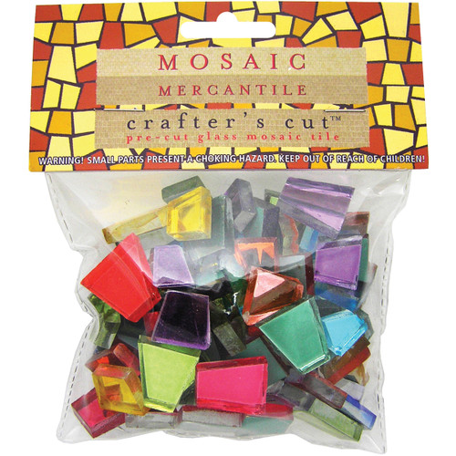 Crafter's Cut Mosaic Tiles .5lb-Assorted Mirrors -CC-MR - 638799952738