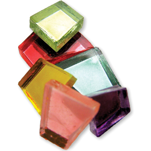 Crafter's Cut Mosaic Tiles .5lb-Assorted Mirrors -CC-MR
