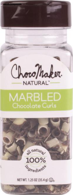 ChocoMaker(R) Natural Marbled Chocolate Curls 1.25oz-9141CMN - 879826001474