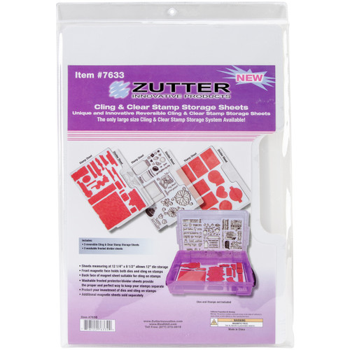 """Zutter Cling & Clear Stamp Storage System Refills-12.25""""X8.5"""" -7633 - 718122763344"""