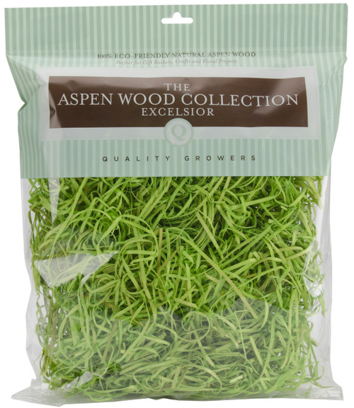 Quality Growers Aspenwood Excelsior 328 Cubic Inches-Chartreuse -QG1596RC - 740657274576