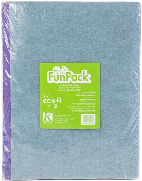 "Felt Fun Pack 9""X12""-Assorted Colors -KC912A - 028981912976"