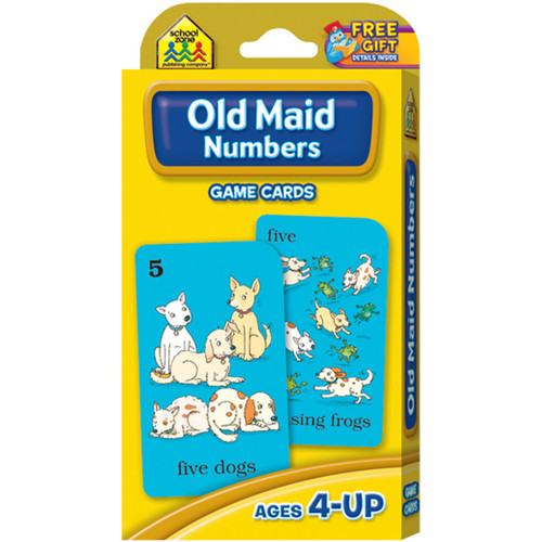 Game Cards-Old Maid Numbers Ages 4+ -SZGAME-5015 - 076645050151
