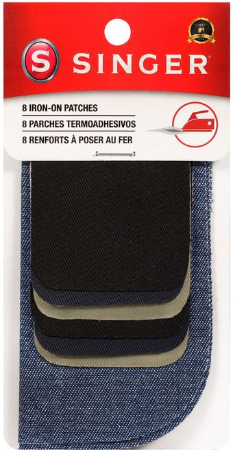 Singer Iron-On Patches Assorted Size 8pcs-Assorted Colors -00096 - 075691000967