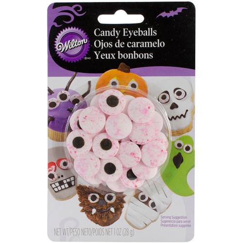 Candy Decorations 24/Pkg-Red Vein Eyeballs -W7100167 - 070896201676