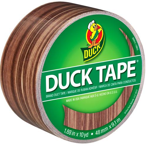"""Patterned Duck Tape 1.88""""X10yd-Woodgrain -PDT-83051 - 075353340189"""