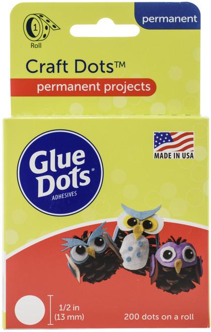 """Glue Dots .5"""" Craft Dot Roll-200 Clear Dots -GD08165 - 634524043658"""
